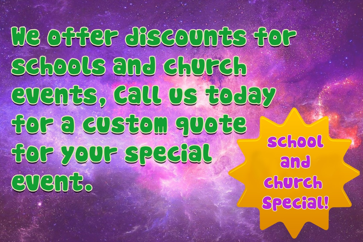 Party Rental Discounts for Churches and Schools